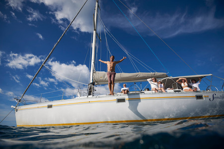 Private sailing photography session with Serendipity Charters Catamaran, Costa Rica