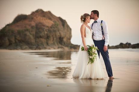 Beach wedding photos at RipJack Inn in Playa Grande, Costa Rica