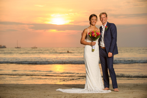Wedding photos at the Tamarindo Diria in Tamairndo, Costa Rica