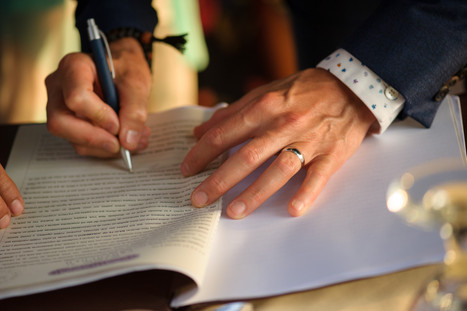 Wedding contract at the Tamarindo Diria in Tamairndo, Costa Rica