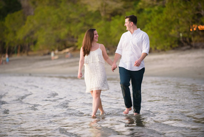 Casa Chameleon at Las Catalinas in Costa Rica engagement photo shoot