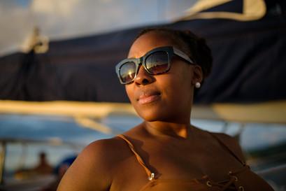 Sunset portrait with Panache Sailing in Playa Flamingo, Costa Rica