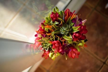 Wedding bouquet at the Tamarindo Diria in Tamairndo, Costa Rica
