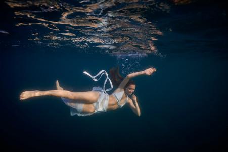 Underwater photographer with Serendipity Charters Catamaran, Costa Rica