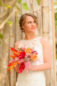 Bridal portrait at the Ripjack Inn in Playa Grande, Costa Rica