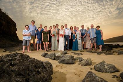 Wedding party at the Ripjack Inn in Playa Grande, Costa Rica