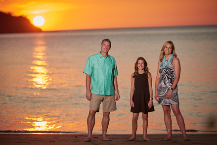 Family sunset photography at El Mangroove Hotel, Autograph Collection in Playa Panama, Costa Rica