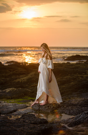 Sunning sunset for a maternity photo shoot in Tamarindo, Costa Rica