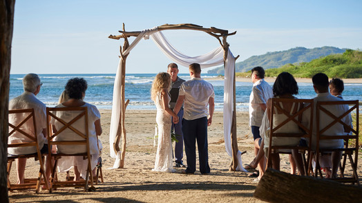 Destination wedding at Pangas Beach Club in Tamarindo, Costa Rica