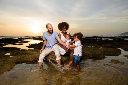 Beach Family photo shoot in Tamarindo, Costa Rica
