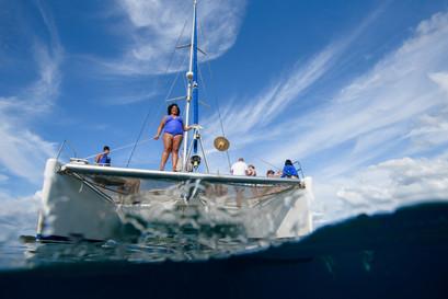 Underwater photography with Panache Sailing in Playa Flamingo, Costa Rica
