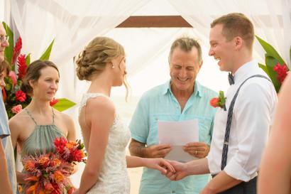 "Saying, ""I do"" at the Ripjack Inn in Playa Grande, Costa Rica"