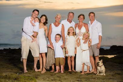 Family reunion at Hacienda Pinilla in Guanacaste, Costa Rica
