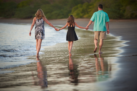 Family beach photos at El Mangroove Hotel, Autograph Collection in Playa Panama, Costa Rica