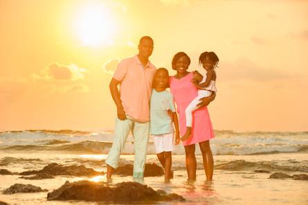 Stunning family photo at Hacienda Pinilla, Guanacaste, Costa Rica