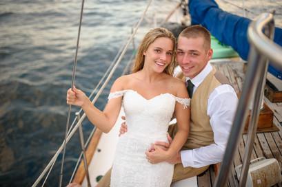 Boat wedding in Costa Rica
