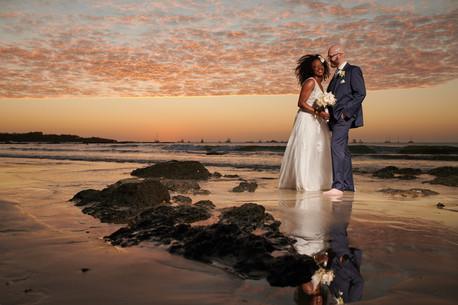 Beach wedding photos at the Tamarindo Diria, Costa Rica