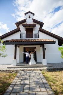 Wedding photos at the Hacienda Pinilla Chapel in Costa Rica