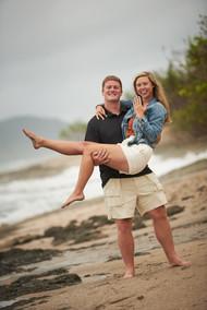 Secret engagement photographer on Playa Langosta in Tamarindo, Costa RIca