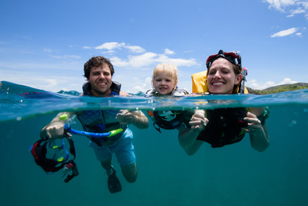 Underwater photographer in Tamarindo, Costa Rica