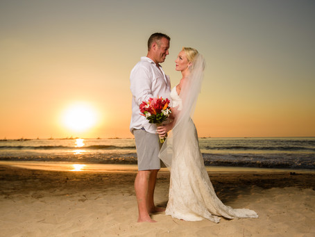 Holly and Casey getting married at Tamarindo Diria!