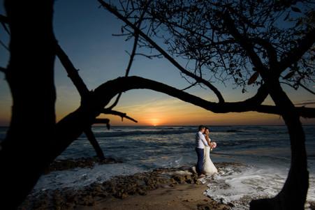 Sunset Wedding photos on  Playa Langosta, Costa Rica