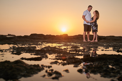 Engagement photos at Playa Junquillal in Costa Rica