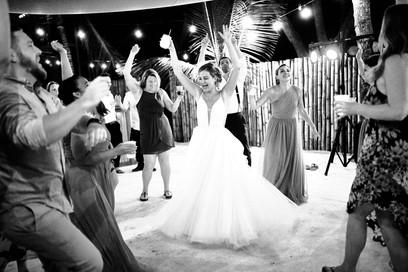 Wedding reception photography at RipJack Inn in Playa Grande, Costa Rica