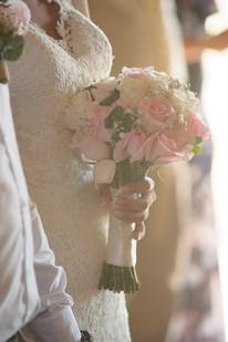 Wedding bouquet at the Hacienda Pinilla Chapel in Costa Rica