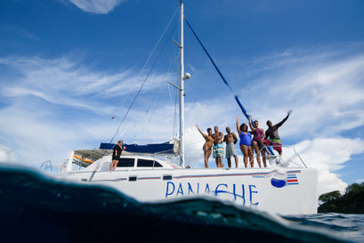 Birthday photo shoot with Panache Sailing in Playa Flamingo, Costa Rica