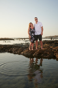 Engagement photography at Playa Junquillal in Costa Rica