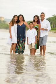 Family photo shoot at the Palms in Playa Flamingo, Costa Rica