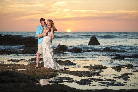 Beach wedding photos at the Occidental Tamarindo in Costa Rica