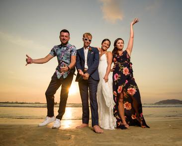 Wedding fun at the Tamarindo Diria in Tamairndo, Costa Rica