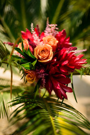 Bridal Bouquet at the Ripjack Inn in Playa Grande, Costa Rica