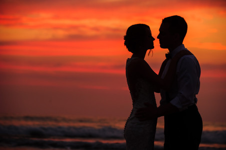 Spectacular sunset wedding at the Ripjack Inn in Playa Grande, Costa Rica