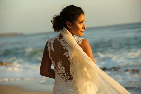 Stunning bridal portrait at the Hacienda Pinilla Chapel in Costa Rica