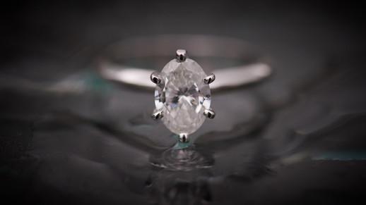 Engagement ring photography on Playa Langosta in Tamarindo, Costa RIca