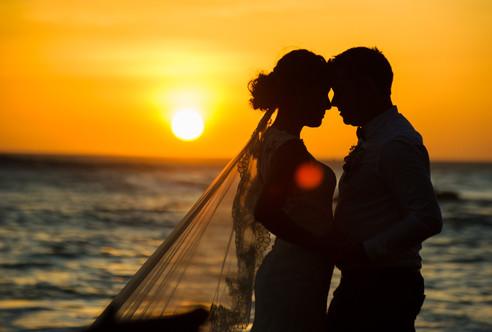 Wedding reception photos on Langosta Beach, Costa Rica