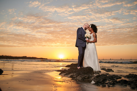 Wedding sunset photos at the Tamarindo Diria, Costa Rica