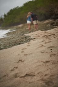 Surprise proposal photographer on Playa Langosta in Tamarindo, Costa RIca