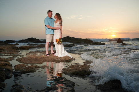 Beach wedding photographer at the Occidental Tamarindo in Costa Rica