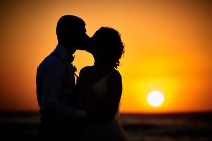 Wedidng sunset at RipJack Inn in Playa Grande, Costa Rica