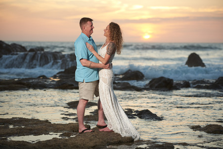 Beach elopement photographer at the Occidental Tamarindo in Costa Rica