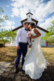 Just married at the Hacienda Pinilla Chapel in Costa Rica