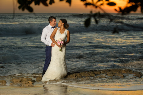 Beautiful couple on Playa Langosta, Costa Rica