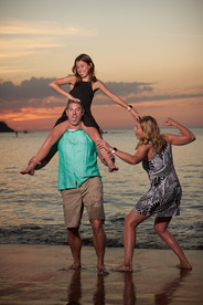 Silly family photos at El Mangroove Hotel, Autograph Collection in Playa Panama, Costa Rica