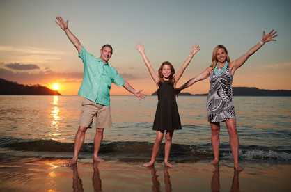 Family photos at El Mangroove Hotel, Autograph Collection in Playa Panama, Costa Rica