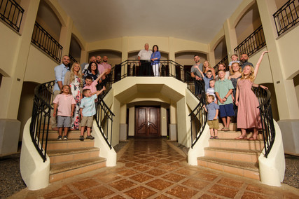 Family Reunion photoshoot at Villa Tranquila in Hacienda Pinilla Golf Club