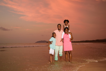 Professional family photographer at Hacienda Pinilla, Guanacaste, Costa Rica